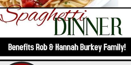 Spaghetti Dinner for Burkey Family tickets