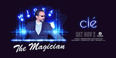 The Magician / Saturday November 2nd / Clé tickets