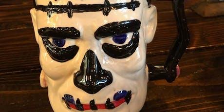 Paint your own Frankenstein Stein at Wicks brewery tickets