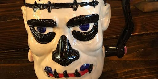 Paint your own Frankenstein Stein at Wicks brewery