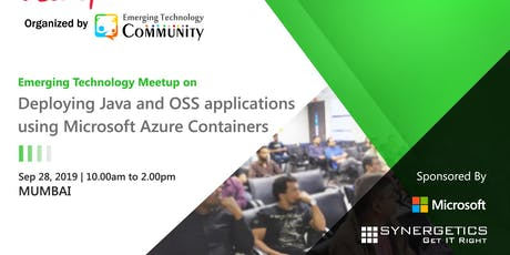 Deploying Java and OSS applications using Microsoft Azure Containers tickets