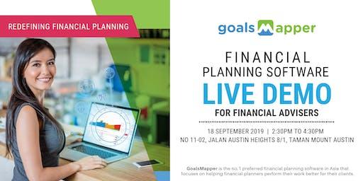 GoalsMapper Financial Planning Software Live Demo