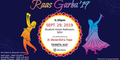Raas Garba 2019 by ISO-SJSU tickets
