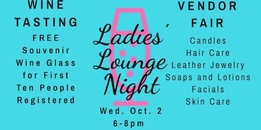 Ladies' Lounge Night & Wine Tasting
