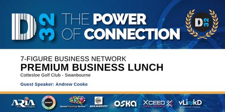 District32 Connect Premium Business Lunch Perth - Thu 26th Sept tickets