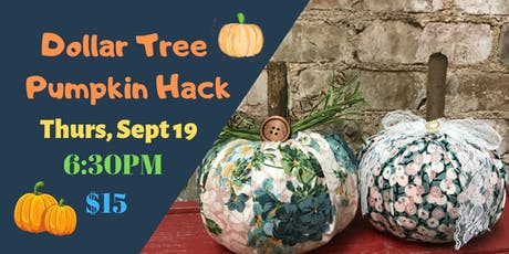 Dollar Tree Pumpkin Hack tickets