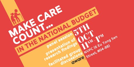 Make Care Count... in the National Budget tickets