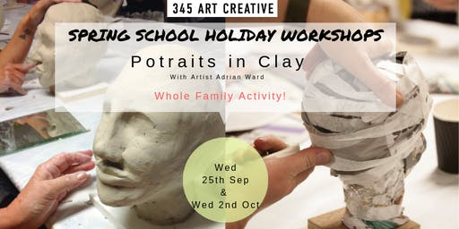 Portraits in Clay! School Holiday Family Workshop