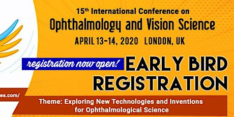 15th International Conference on Ophthalmology and Vision Science tickets