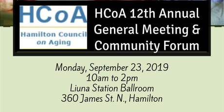 FREE EVENT! HCoA 12th AGM: Meet the People Behind Hamilton's Senior Isolation Impact Plan (HSIIP) tickets