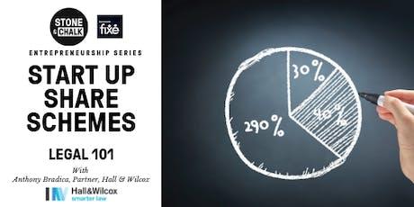 Stone & Chalk Entrepreneurship Series - 'Startup Share Scheme' - Legal 101 tickets