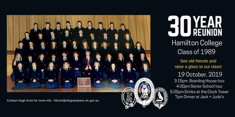 Thirty Year Reunion - Class of 1989 tickets