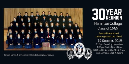 Thirty Year Reunion - Class of 1989