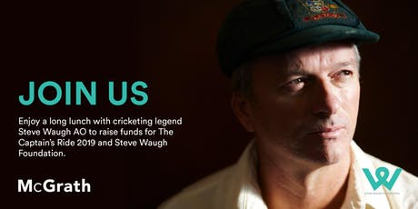 Long lunch with cricketing legend Steve Waugh  tickets