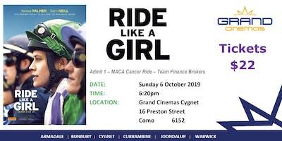 'Ride Like a Girl' movie fundraiser