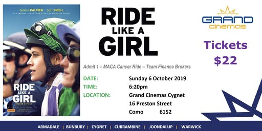 'Ride Like a Girl' movie fundraiser
