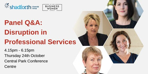 Perth, BWA Panel Q&A: Disruption in Professional Services
