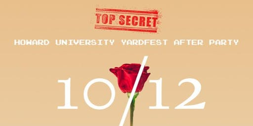 THE OFFICIAL HU YARDFEST AFTER PARTY