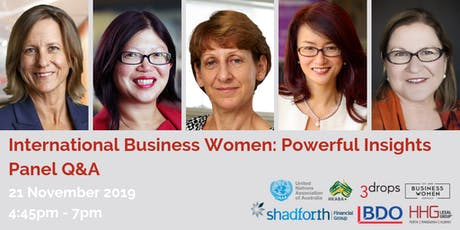Perth, BWA, International Business Women: Powerful Insights Panel Q&A tickets