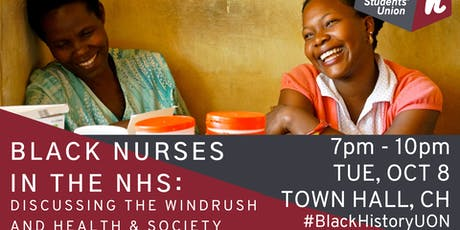 Black Nurses in the NHS: Discussing The Windrush and Health & Society tickets