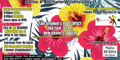 Salsa & Bachata Wednesdays - New Haven Dance Classes & Parties