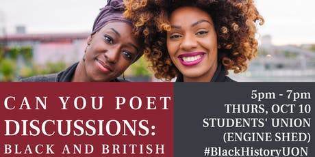 Can You Poet Discussions: Black & British tickets
