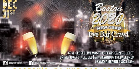 Boston NYE Bar Crawl tickets