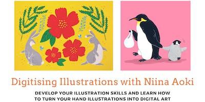 Illustration with Niina Aoki: from pen to digitisation