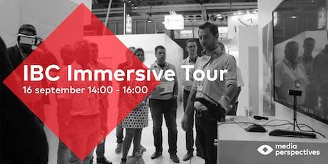 IBC Immersive Media Tour tickets
