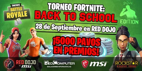 Torneo Fortnite: Back to School Edition entradas