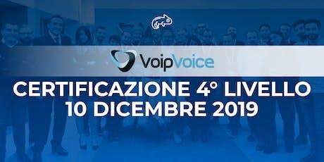 Corso di Certificazione Quarto Livello VoipVoice Firenze biglietti