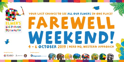 Elmer's Big Parade Plymouth Farewell Weekend  Friday 4th October 2019