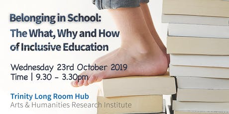 Belonging in School:  The What, Why and How of Inclusive Education:  tickets