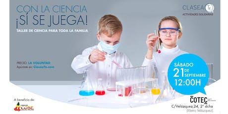 Taller de ciencia en familia entradas