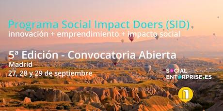 5ª Edición del Programa Social Impact Doers tickets