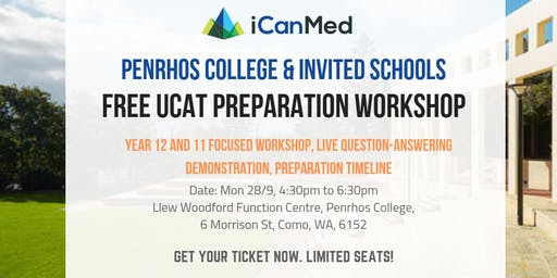 iCanMed UCAT Workshop (Penrhos College & Invited Schools): What is the UCAT & How to Beat It!