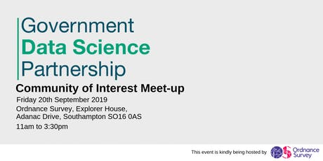 Government Data Science Community of Interest Meet-up 20th September 2019 tickets
