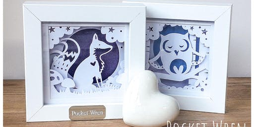 Papercut Layered Woodland Frames