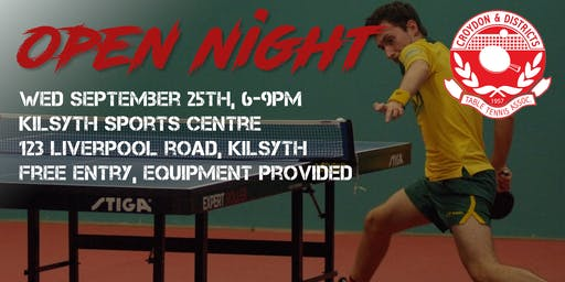 Table Tennis Open Night