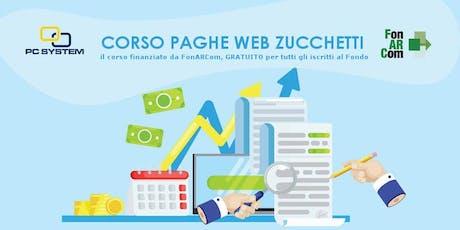 Corso Paghe Web Zucchetti finanziato da fondo FonARCom  biglietti