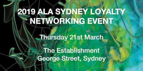 2020 ALA Sydney Loyalty Dinner Panel Event tickets