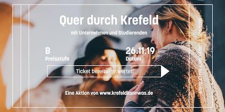 Quer durch Krefeld mit Unternehmen und Studierenden – Tour 2.0 Tickets