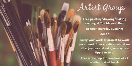 FREE creative get together workshop tickets