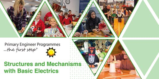 Fully-Funded, One-Day Primary Engineer Structures and Mechanisms with Basic Electrics Teacher Training in Gatwick