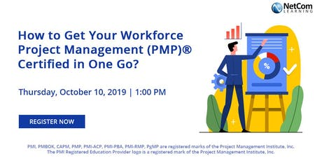 Virtual Event - How to Get Your Workforce Project Management (PMP)® Certified in One Go? tickets