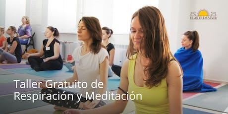 Taller gratuito de Respiración y Meditación - Introducción al Happiness Program en Bogotá tickets