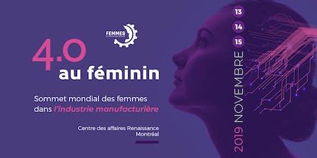 4.0 au féminin | Sommet mondial des femmes de l'industrie manufacturière billets