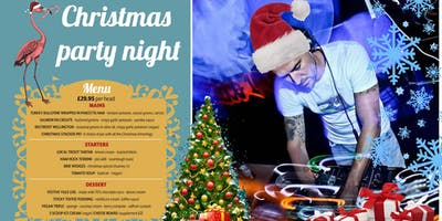 Christmas party night at the beach. Dinner & House party
