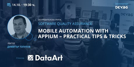Software QA: Mobile Automation with Appium – Practical Tips & Tricks tickets