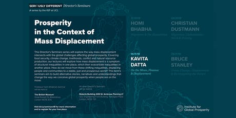 Director's Seminar: On the Move, Finance and Displacement tickets
